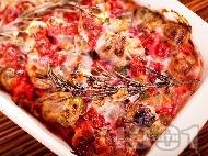 Агнешко печено с кисели краставички, цвекло, розмарин и сметанов сос